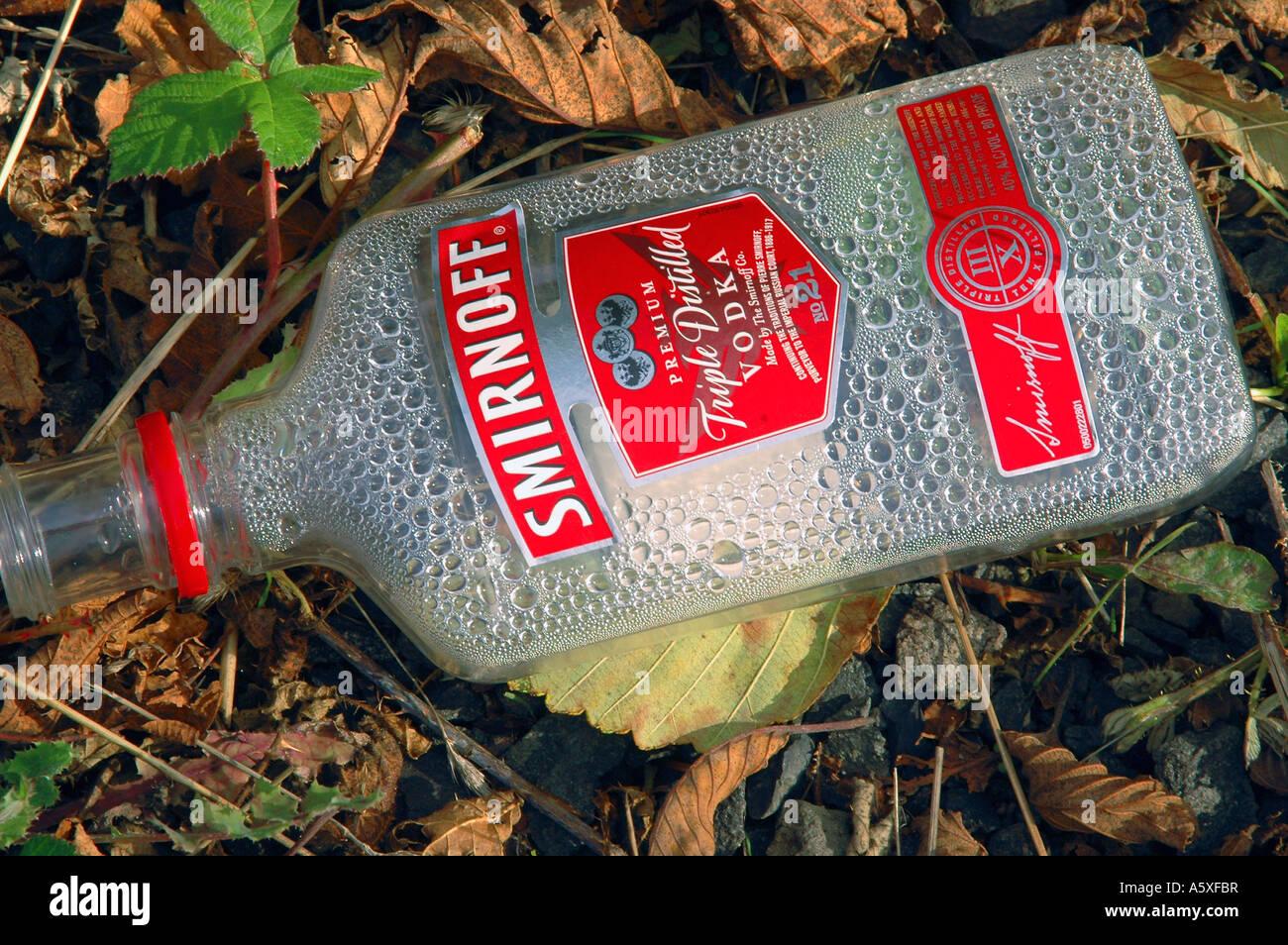 Painet jb6731 bouteille en plastique vide de vodka l'Alcoolisme Toxicomanie potable constitution convention Photo Stock