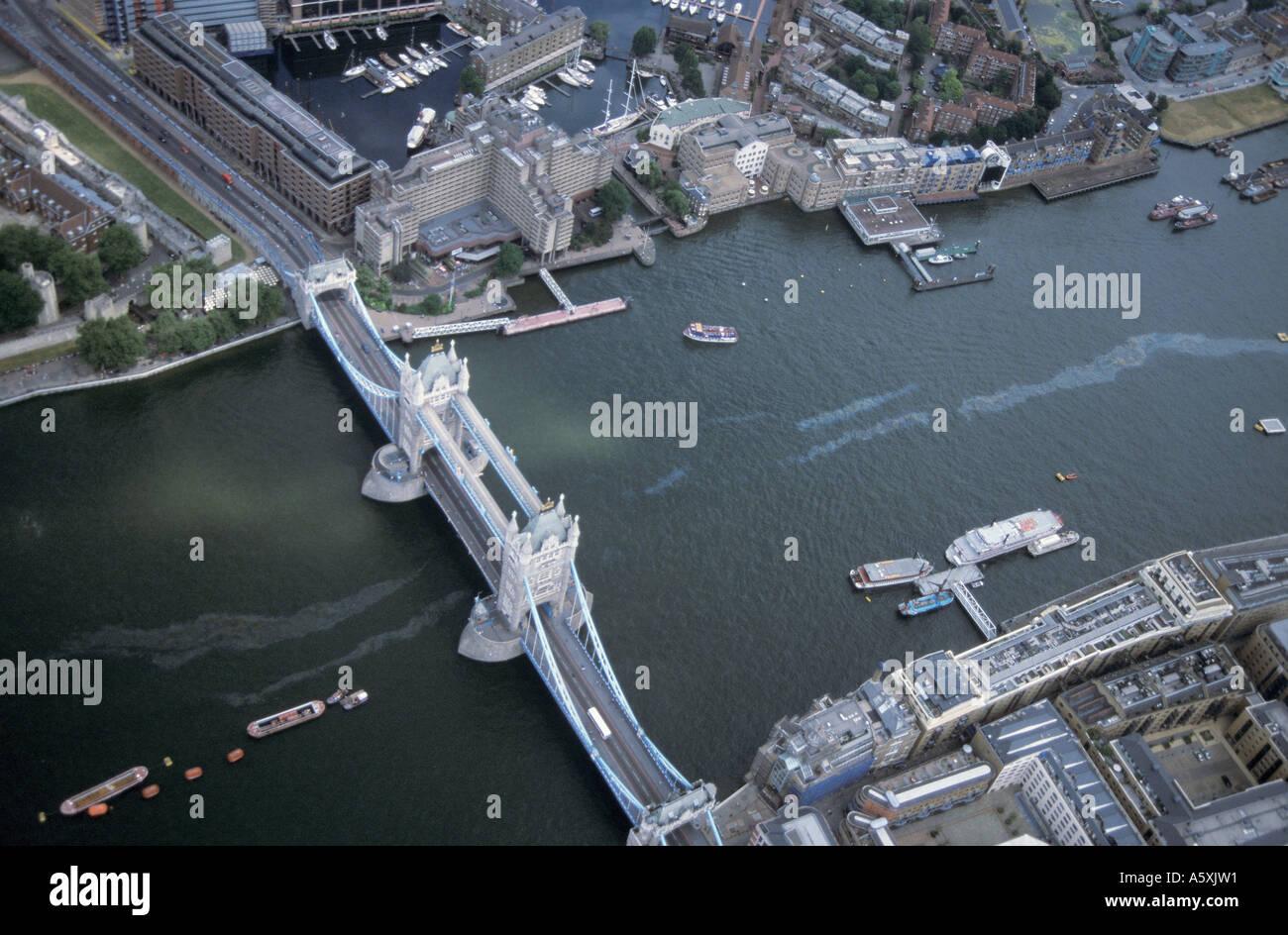Vue aérienne de Tower Bridge London United Kingdom Photo Stock