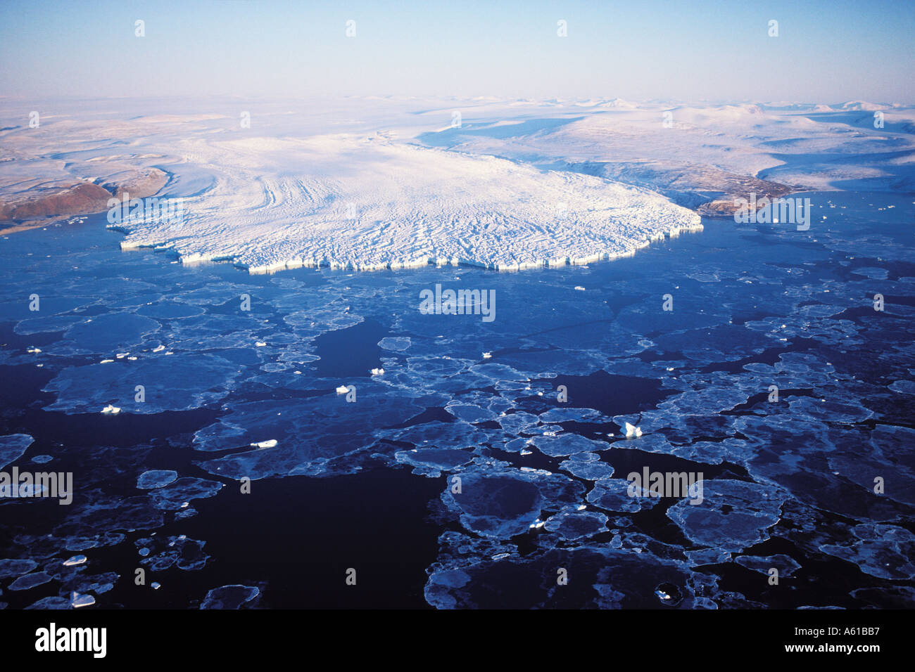 Glacier Pituffik Thule Greenland Banque D'Images