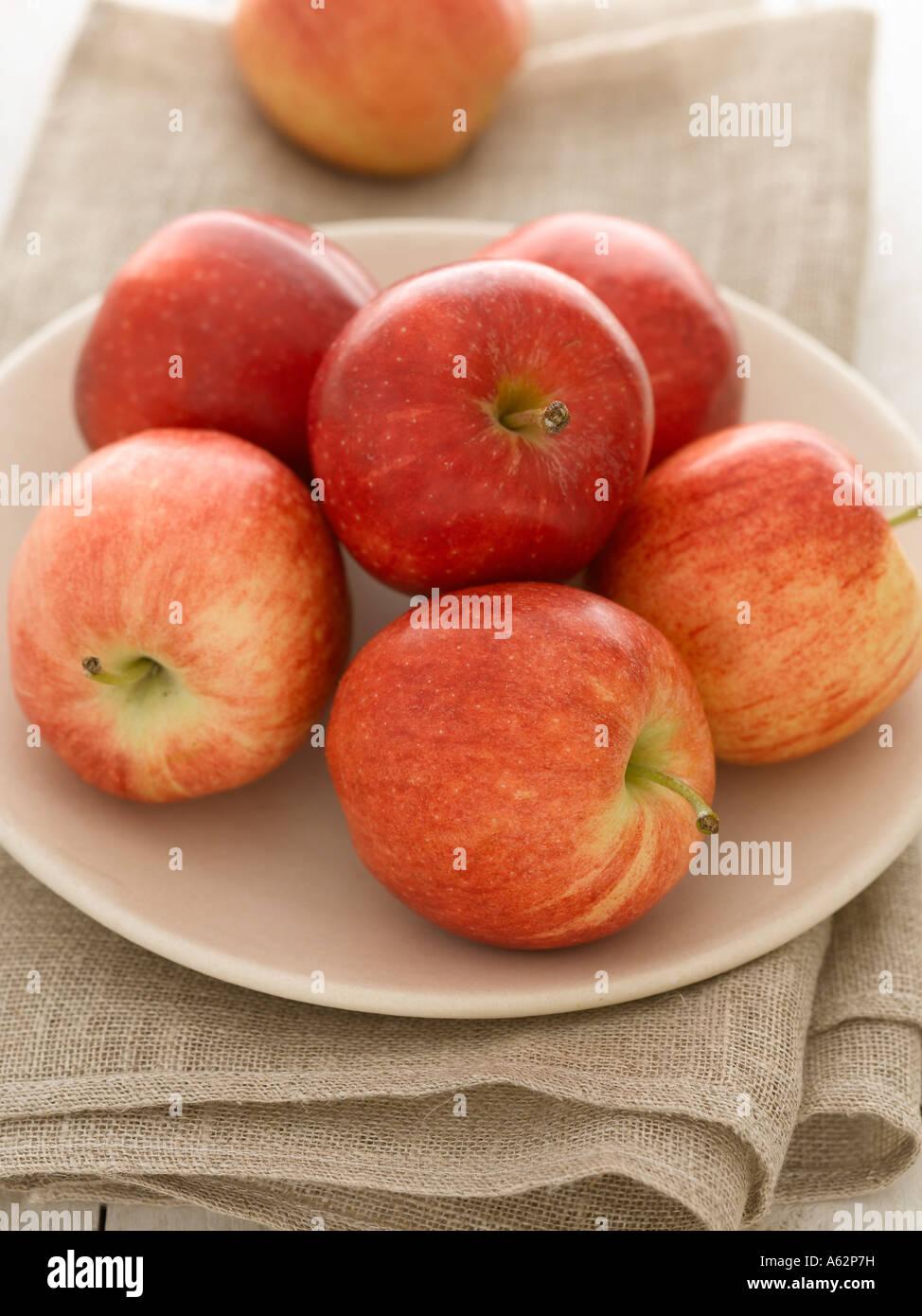 La vie toujours des pommes de la plaque Photo Stock