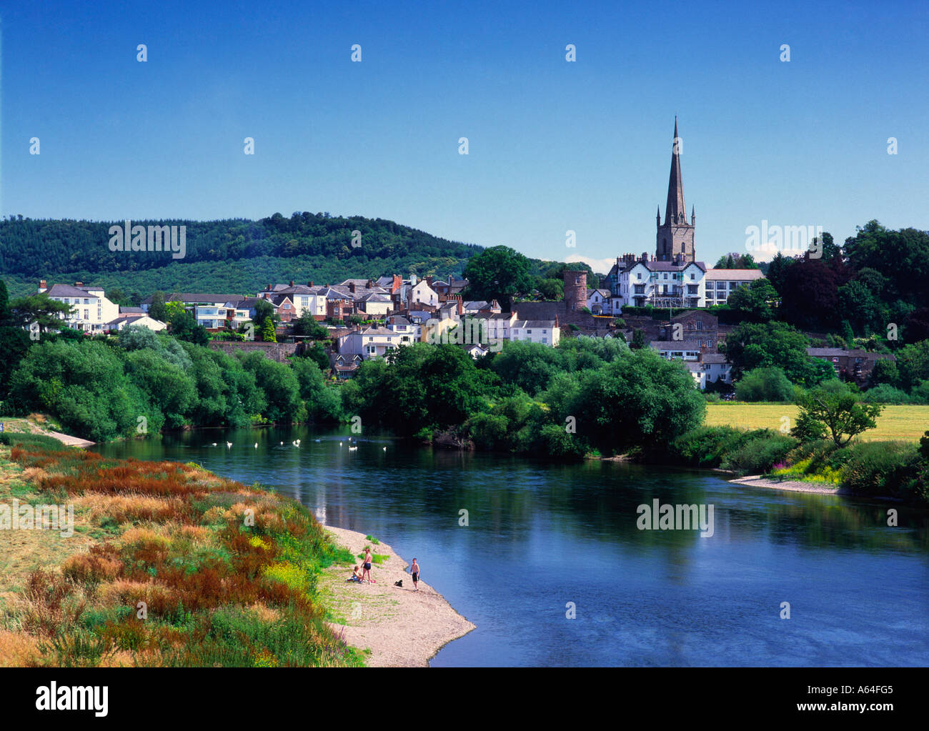 Ross-on-Wye dans le Herefordshire Banque D'Images
