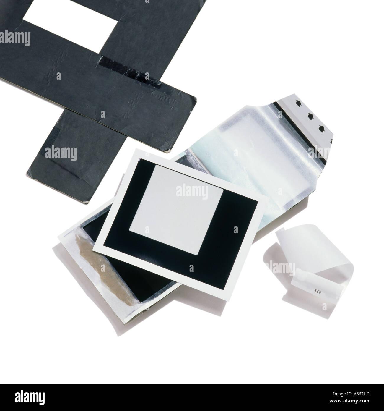 Film Polaroid et masques Photo Stock