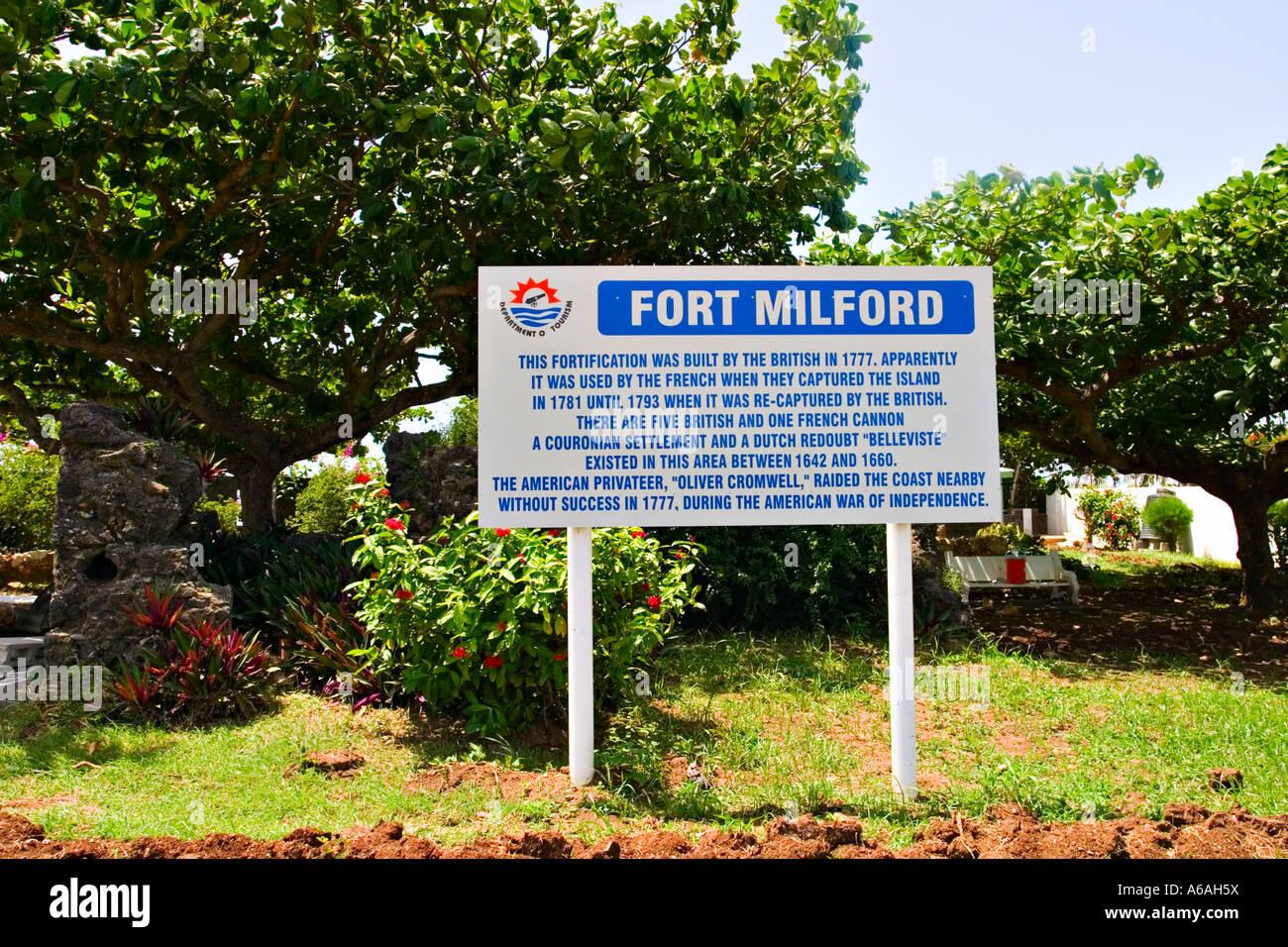 Fort Milford, Trinidad, Trinidad & Tobago, Caraïbes Banque D'Images