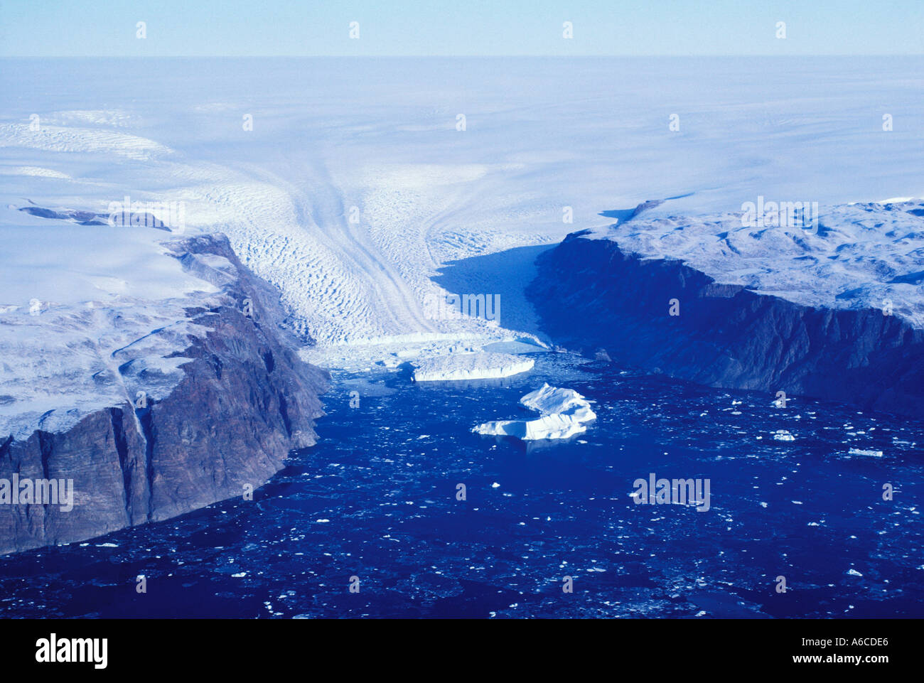Glacier Melville fjord d'Inglefield Thule Greenland Banque D'Images