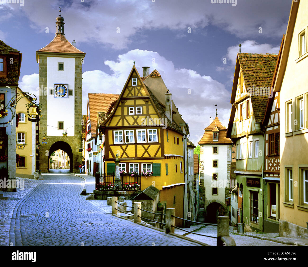 DE - La Bavière : Plönlein à Rothenburg-ob-der-Tauber Photo Stock