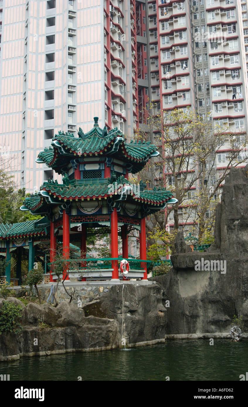 Sik Sik Yuen Wong Tai Sin Temple, Hong Kong, l'Extrême-Orient, Asie, Photo Stock