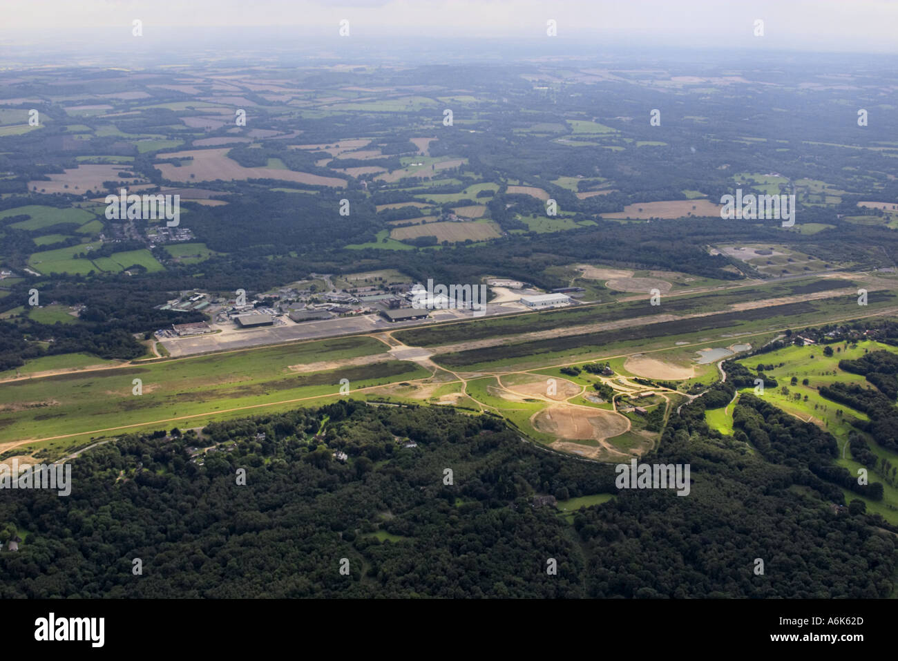 Photo aérienne de Greenham Common airfield Photo Stock