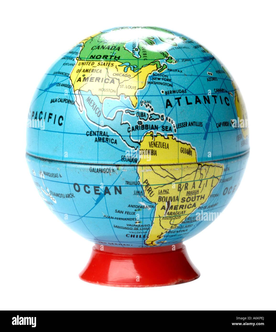 Retro taille-crayon globe Photo Stock