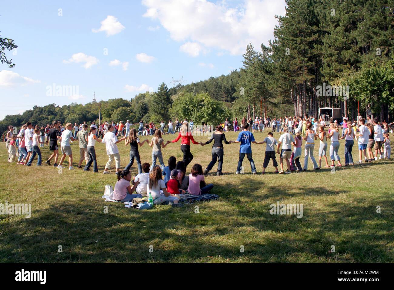 Dansez au rythme de la musique Photo Stock