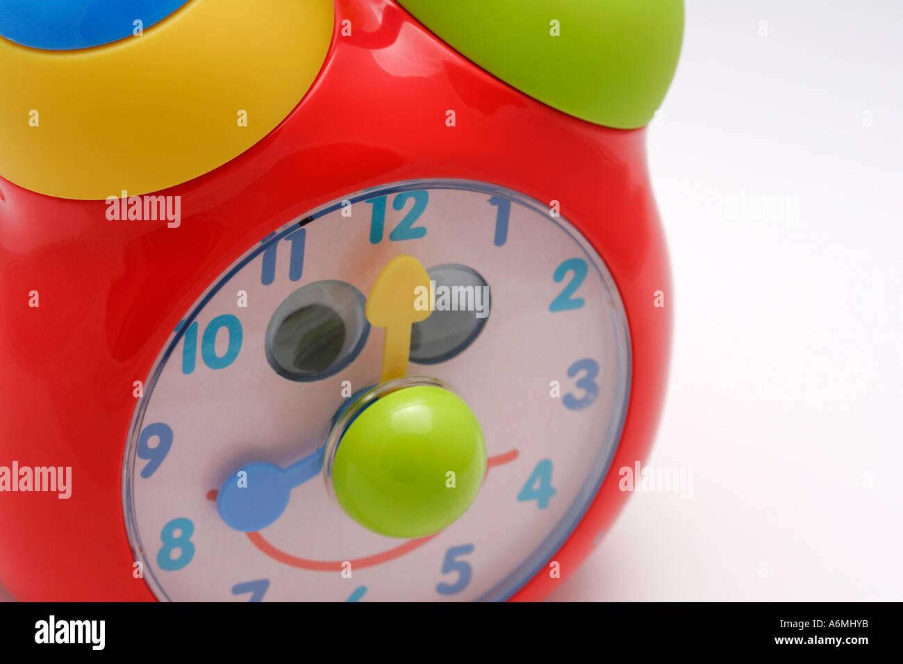 Horloge Jouet En Plastique Couleurs Couleurs Enfants Enfance Jeu D