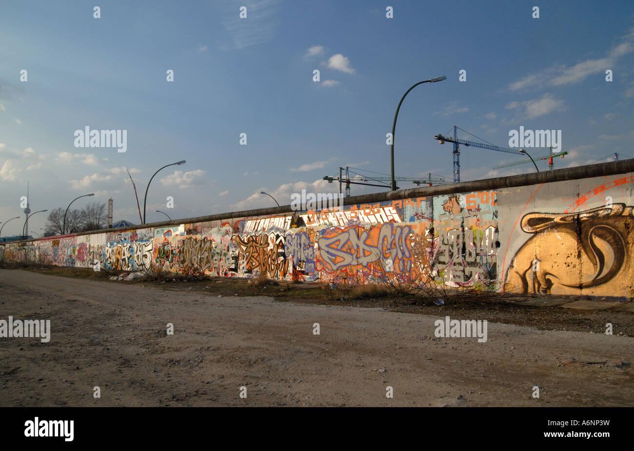 Partie intacte de mur de Berlin Photo Stock
