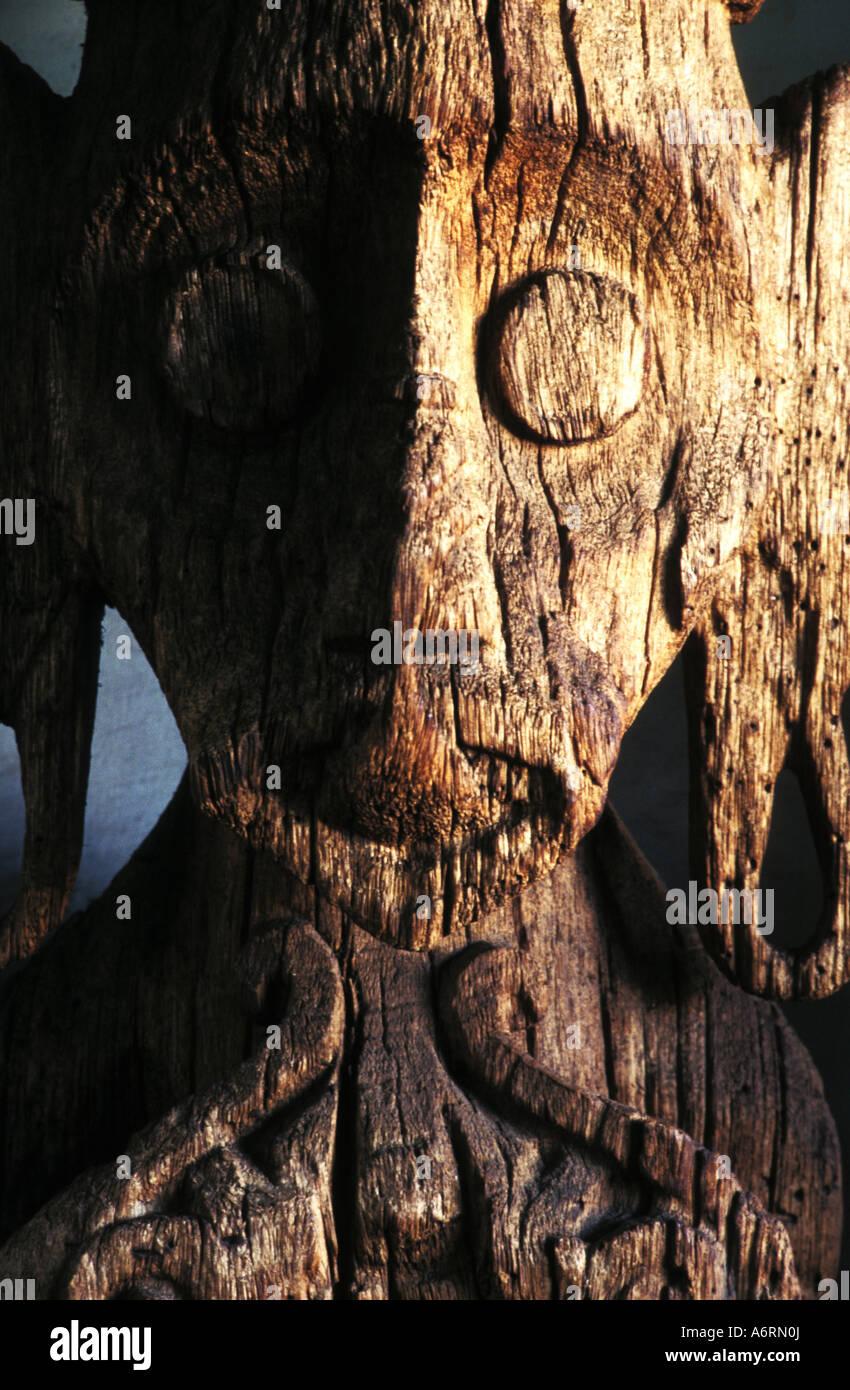 Imahe funéraire de Timor oriental - agam art, atelier d'artisanat, Jakarta, Indonésie Photo Stock