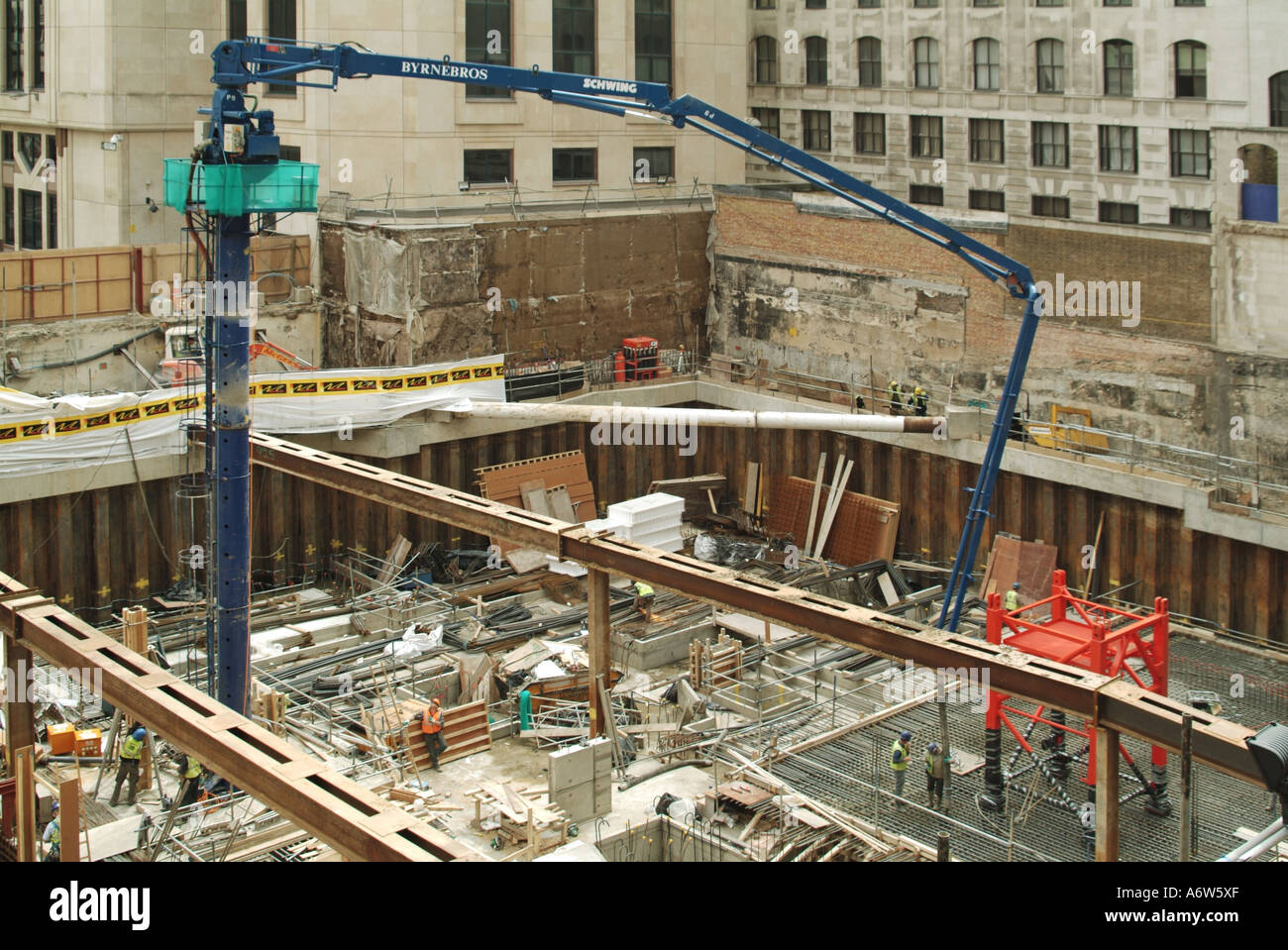 Londres fondations profondes pour nouveau immeuble de bureaux en