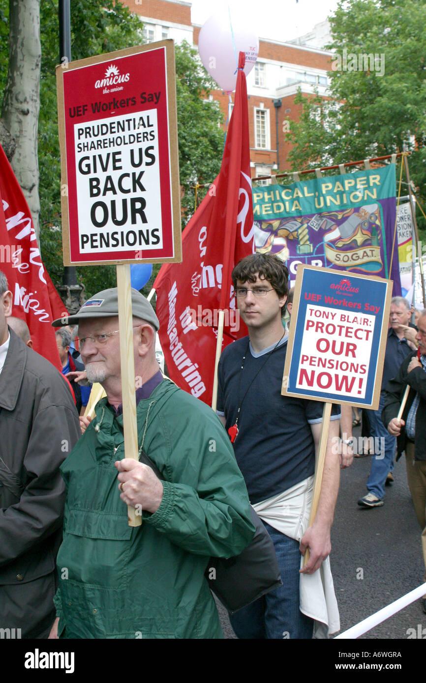 Démonstration de la rue des droits des retraités. Photo Stock