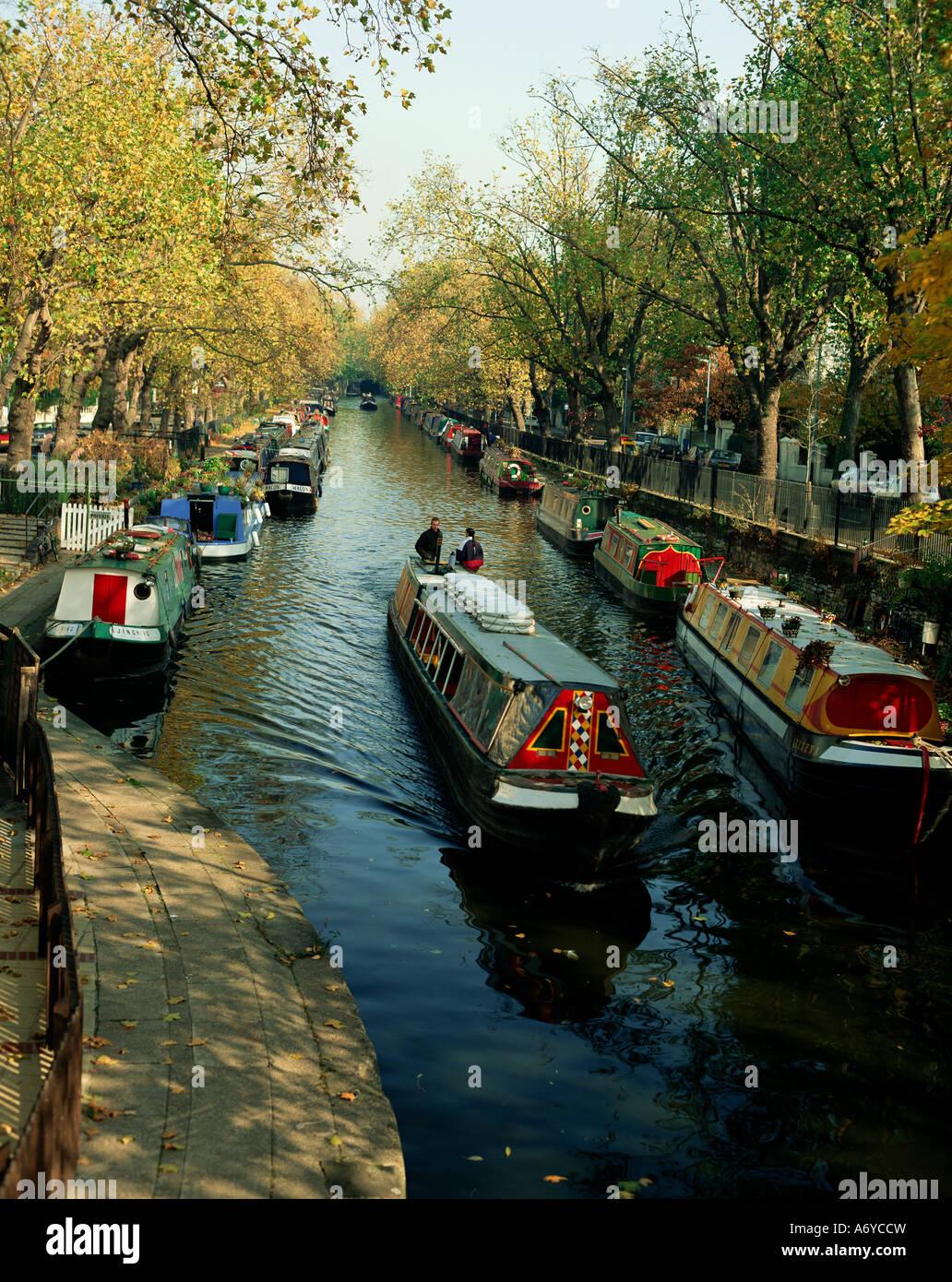 Canal Regent s Maida Vale London England Royaume-Uni Europe Photo Stock