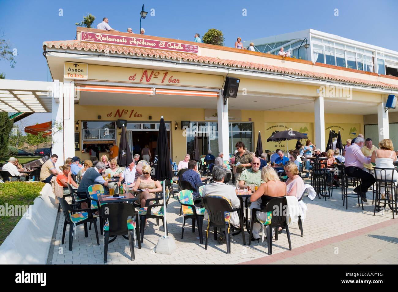 Mijas Costa Del Sol Malaga Province Espagne Terrasse Bar