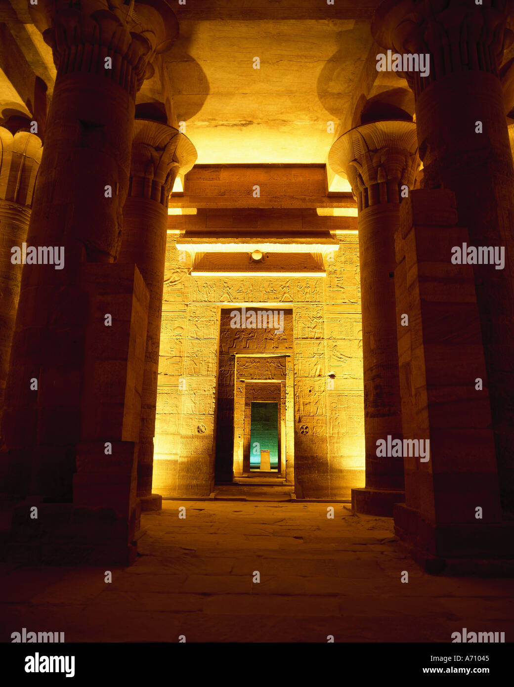 Temple d'Isis en Égypte Photo Stock