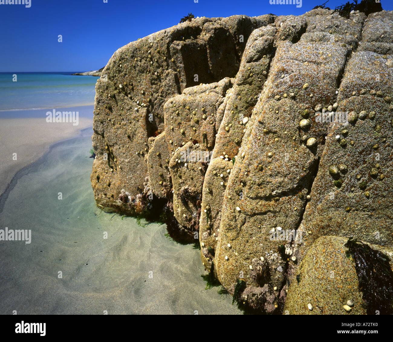 - IE: Connemara Coast sur l'île de Omey Photo Stock