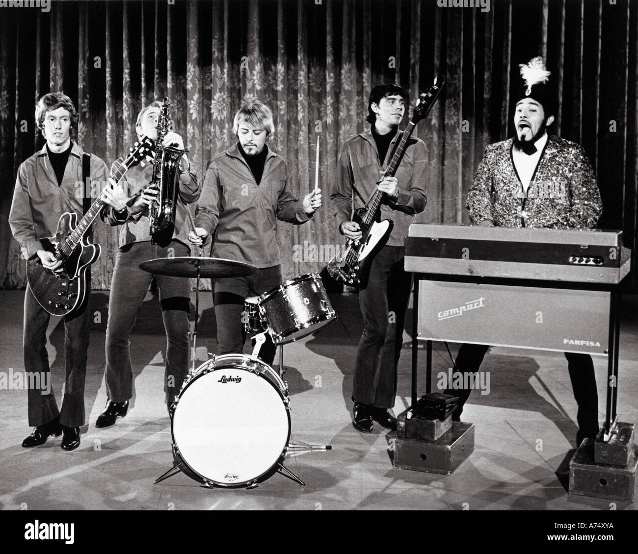SAM THE SHAM AND THE PIRATES groupe américain Photo Stock