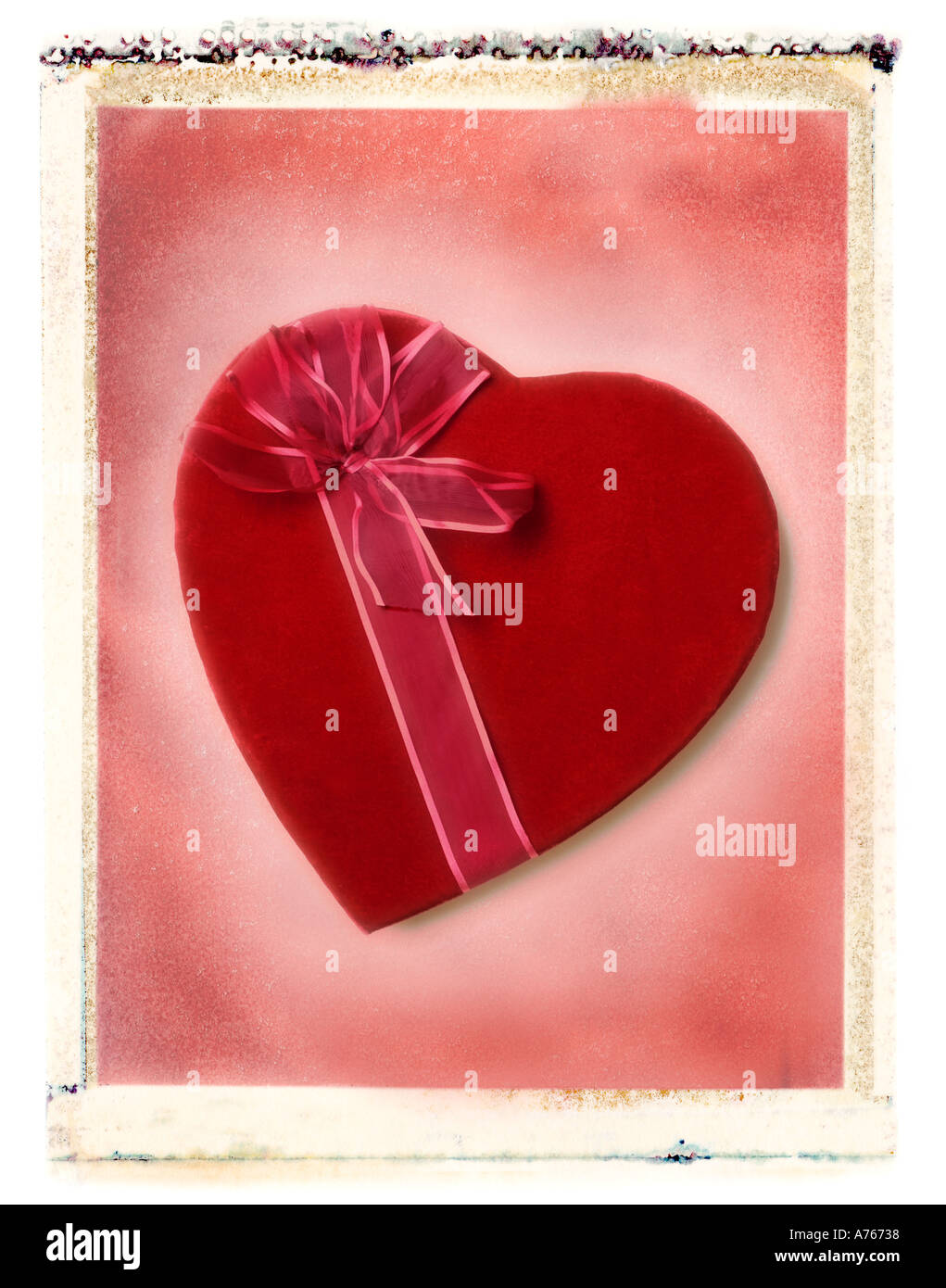 Valentine s day candy heart gift Photo Stock