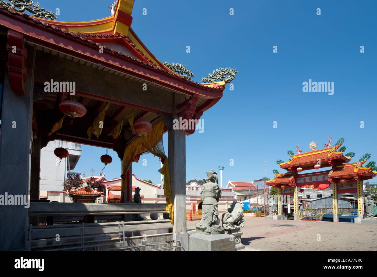 Temple chinois, vieille ville de Phuket, Phuket, Thaïlande Banque D'Images