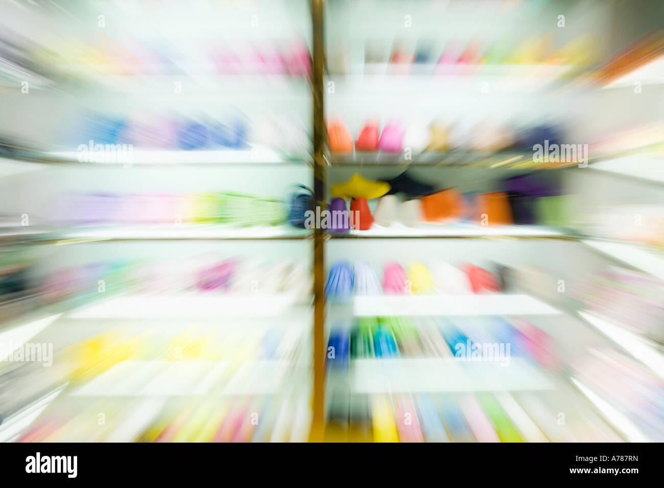 Portoirs de chaussures, blurred Photo Stock