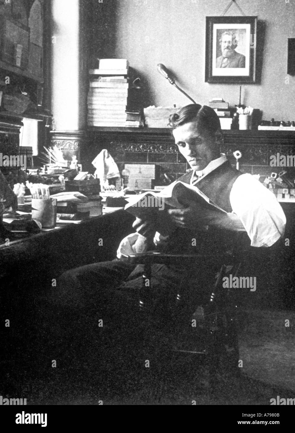 Alexander Fleming, 1908 Banque D'Images