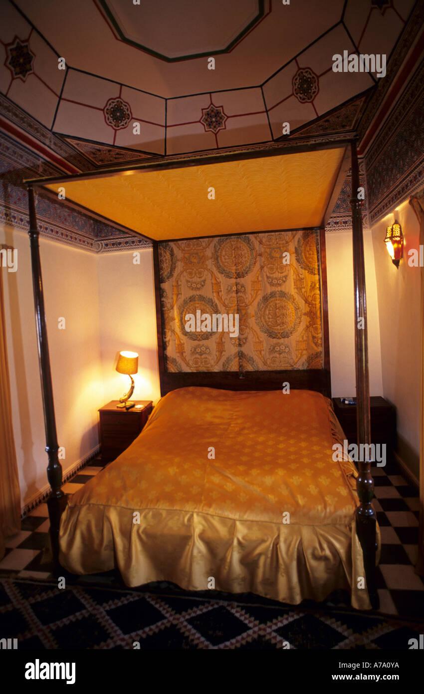 Lit de luxe oriental ciel Photo Stock