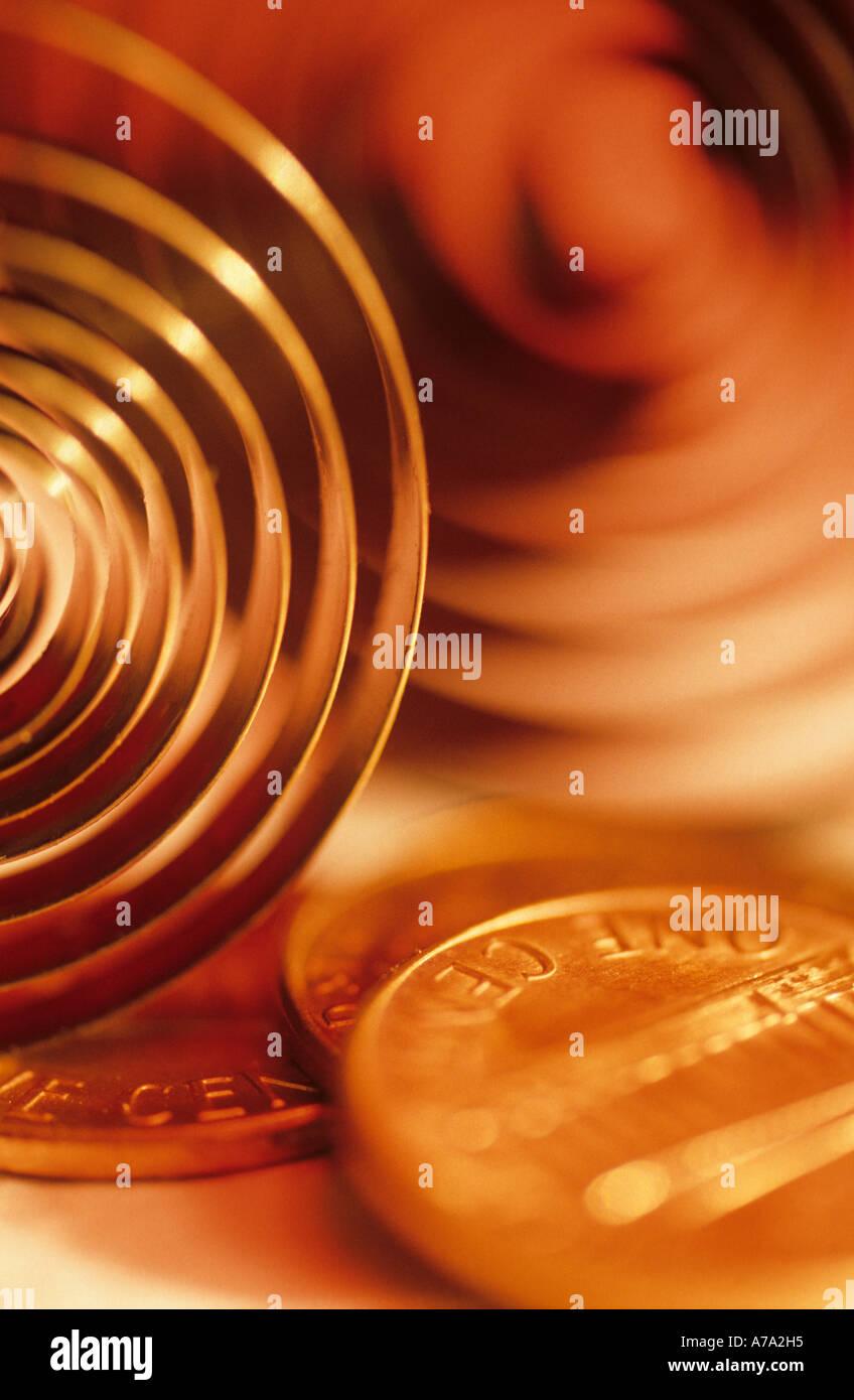 Temps concept de l'argent à la verticale Banque D'Images
