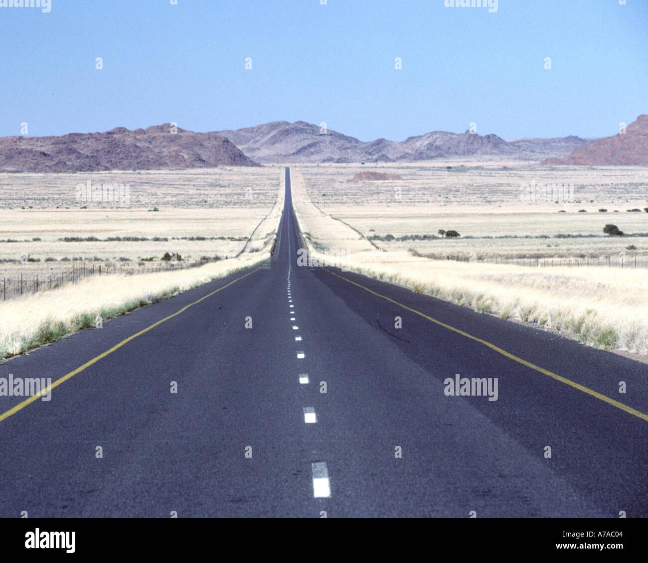 La route n14 en Afrique du Sud pour le nord de la province du Cap. Banque D'Images