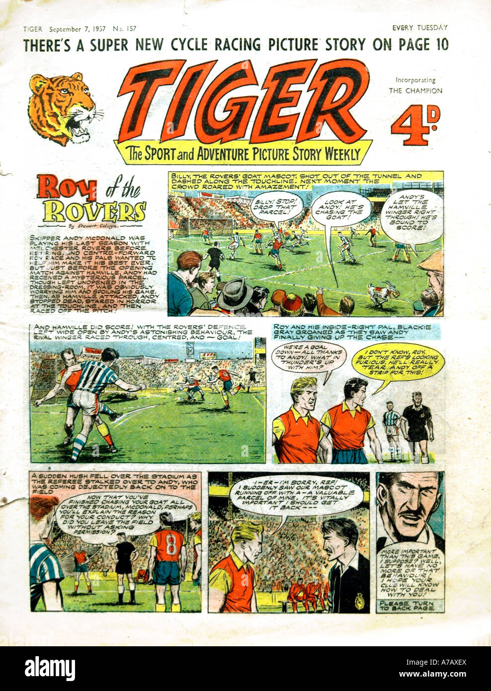 Bande dessinée Roy du tigre Rovers EDITORIAL UTILISEZ UNIQUEMENT Photo Stock