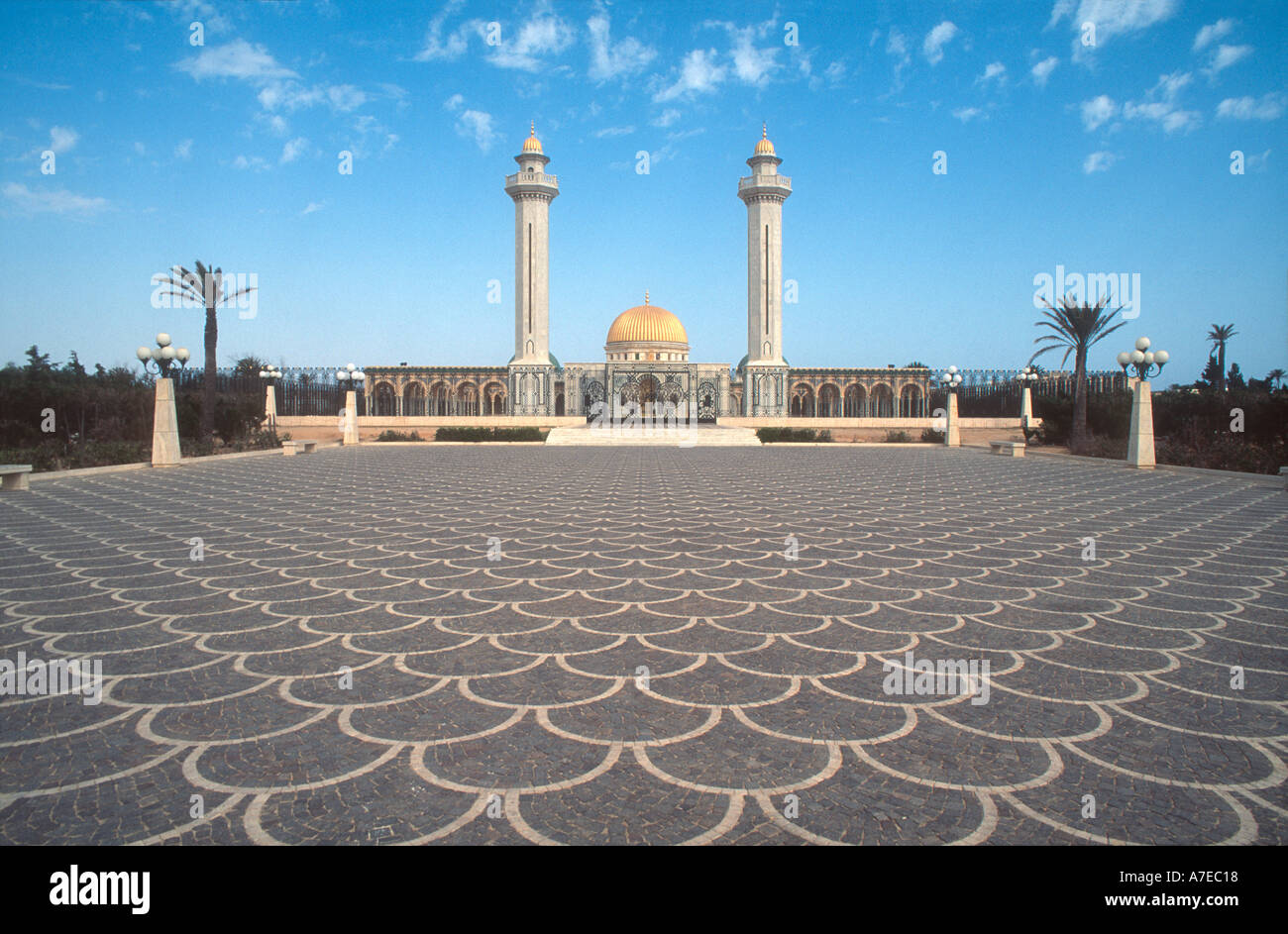 Monastir Tunisie Afrique du Nord vue du mausolée de Bourguiba Photo Stock