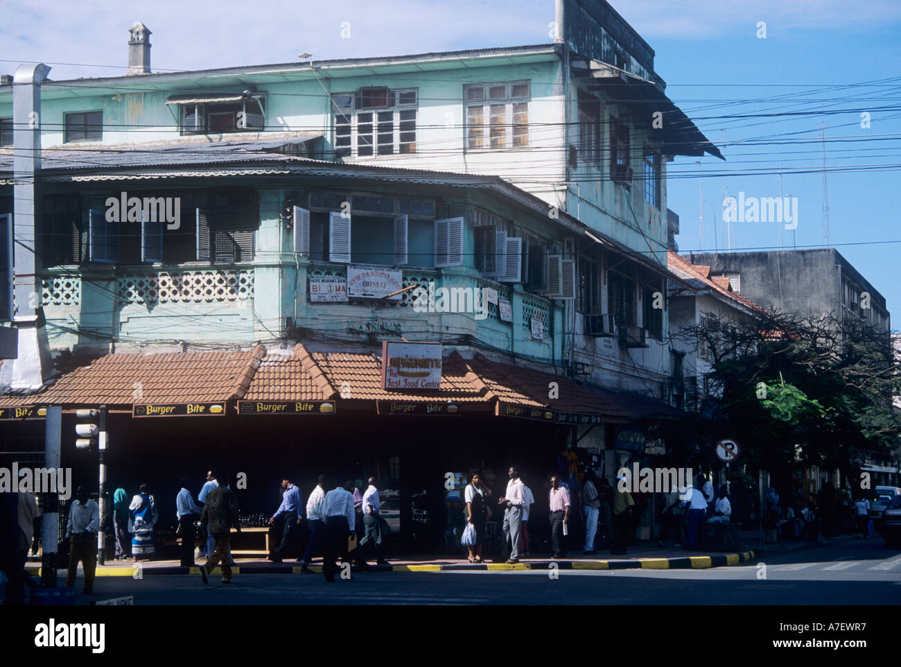 L'architecture de style colonial à Dar es Salaam, Tanzanie Photo Stock