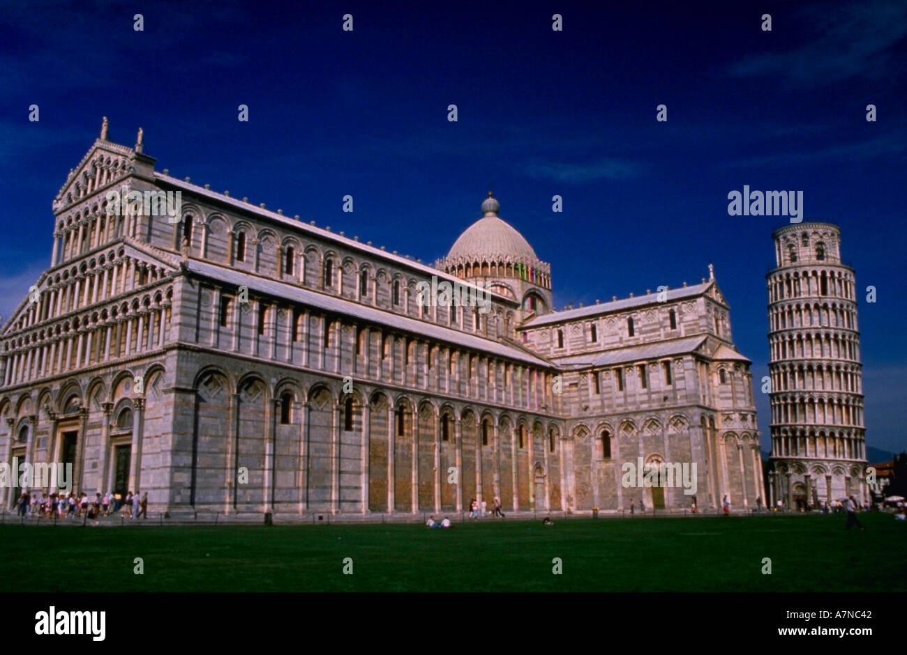 Tour penchée et cathédrale Duomo Pise Italie Photo Stock