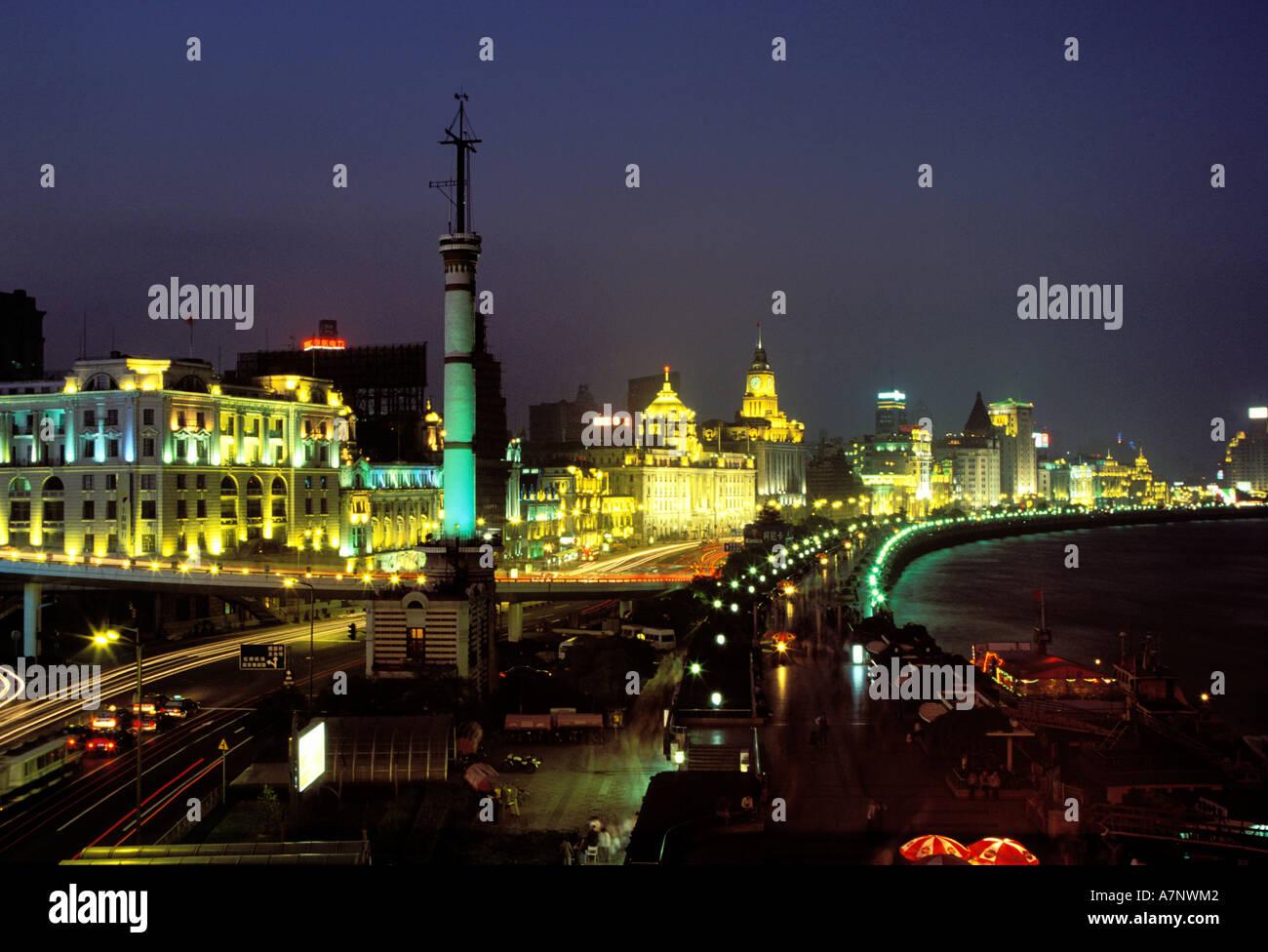 La Chine, la ville de Shanghai, le Bund, symbole de 30 ans l'architecture néoclassique Photo Stock