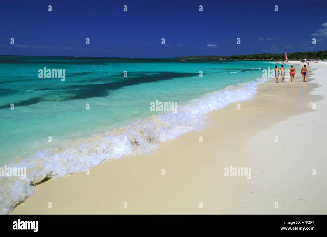 Cuba, Holguín, Guardalavaca, Playa Esmeralda Banque D'Images