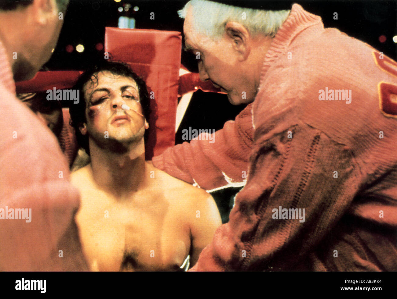 ROCKY Sylvester Stallone dans le film d'UC 1976 Photo Stock