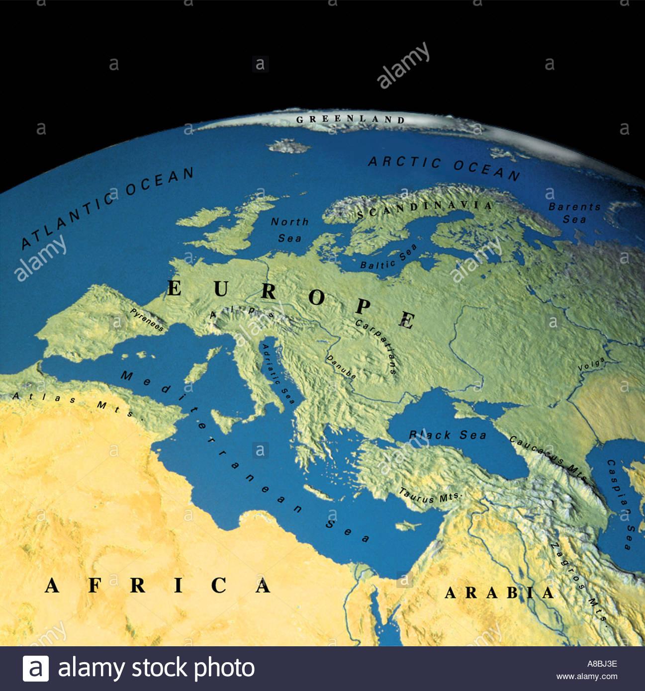 Carte Deurope Et Afrique