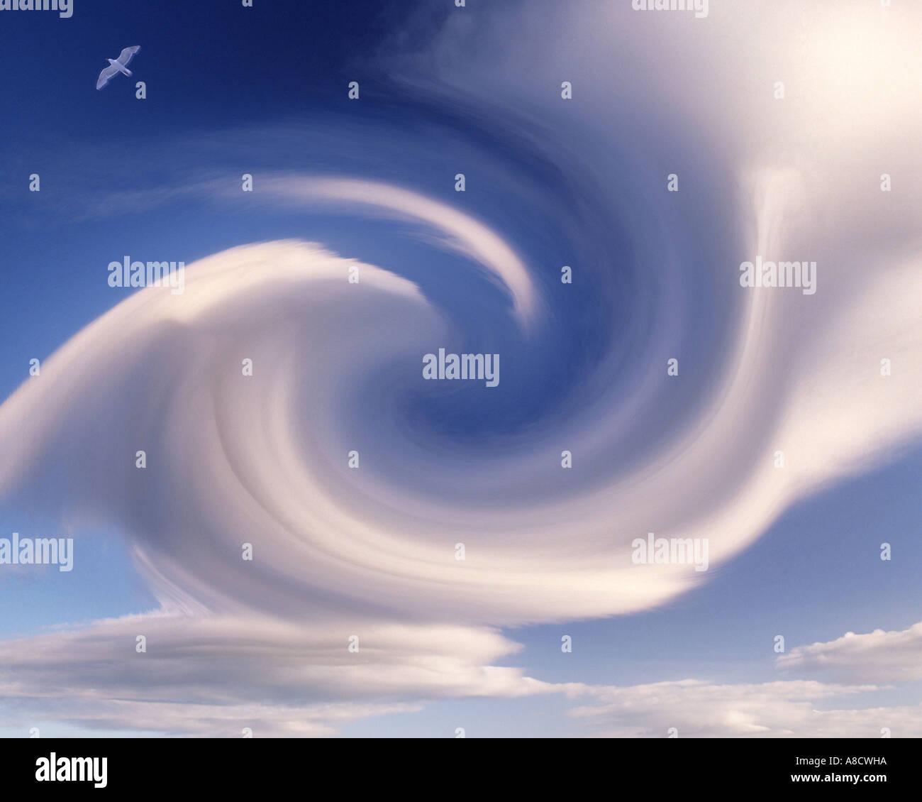 CONCEPT D'INFORMATION NUMÉRIQUE: la formation de nuages Photo Stock