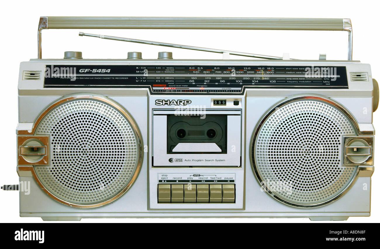 Depuis le début des années 80 d'une radiocassette Photo Stock