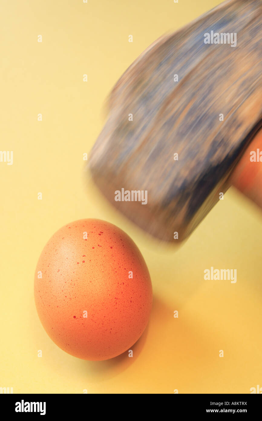 Oeuf et marteau Photo Stock