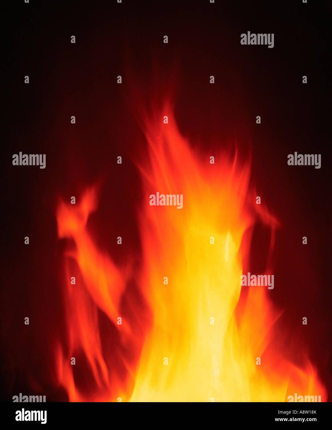 La science, de la technologie de combustion flammes feu de charbon Photo Stock