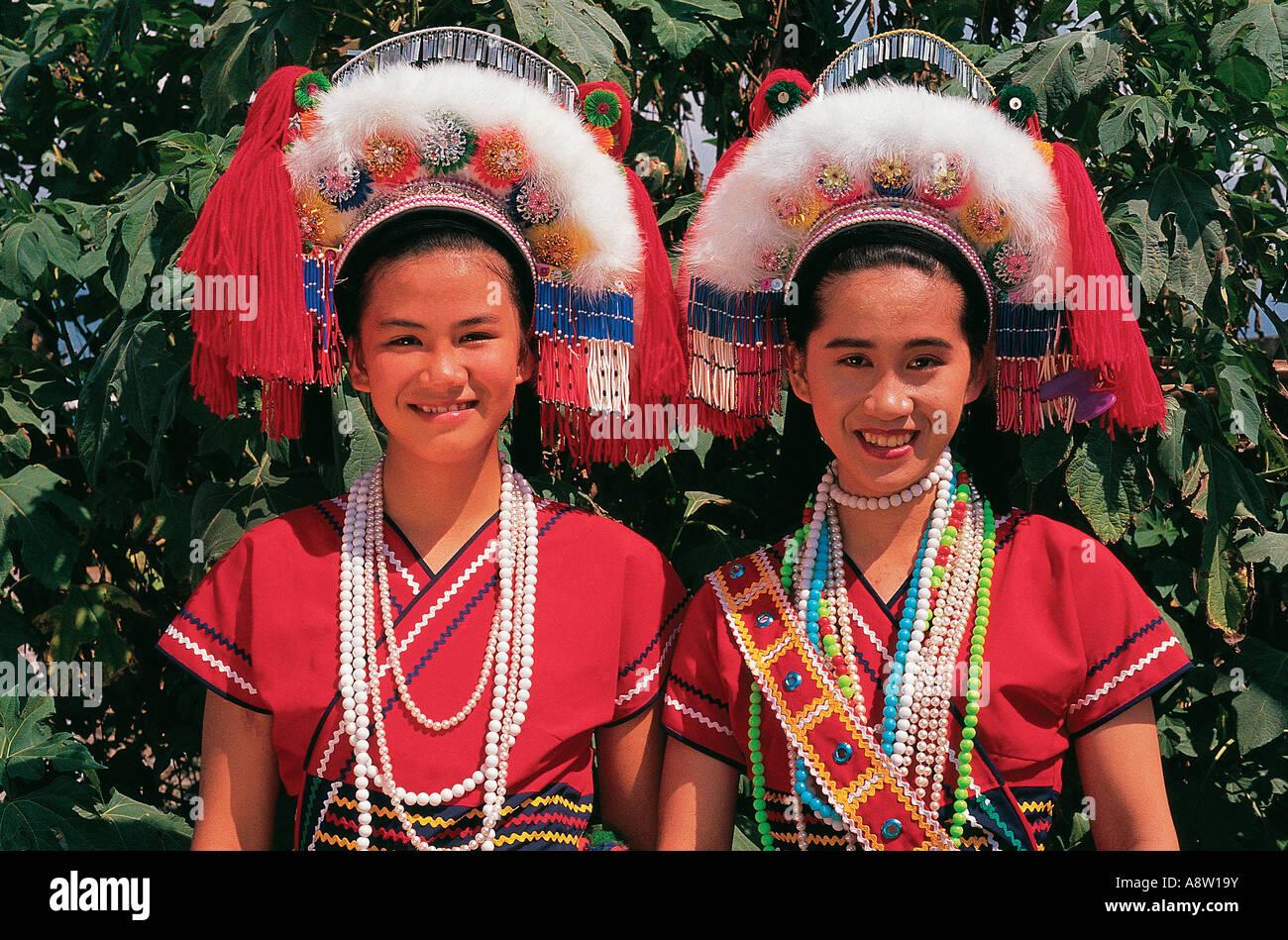 Hwalien Taiwan voyage Ami Ami des femmes des tribus des collines Photo Stock