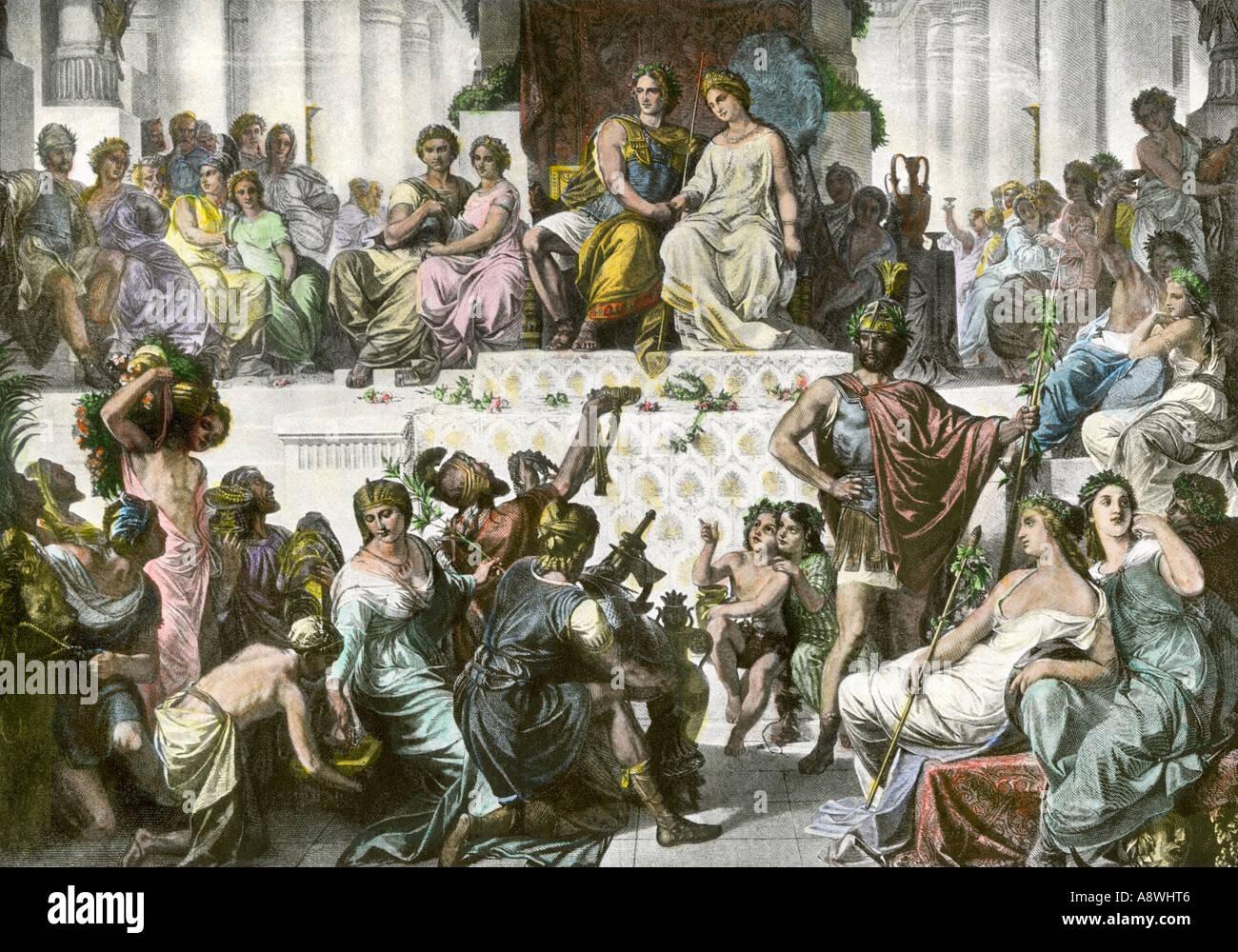 Mariage d'Alexandre le Grand et Statira Photo Stock