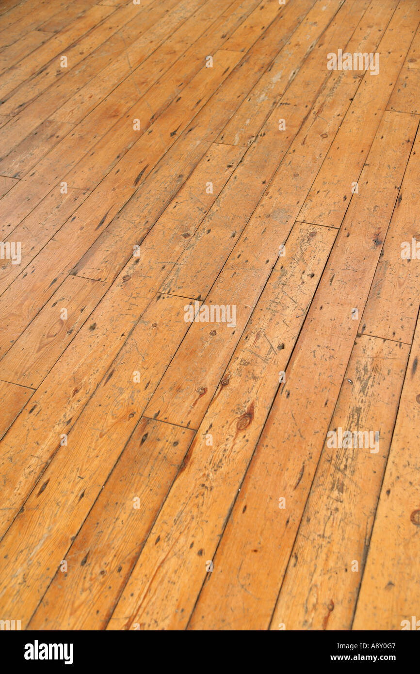 plancher en bois Photo Stock