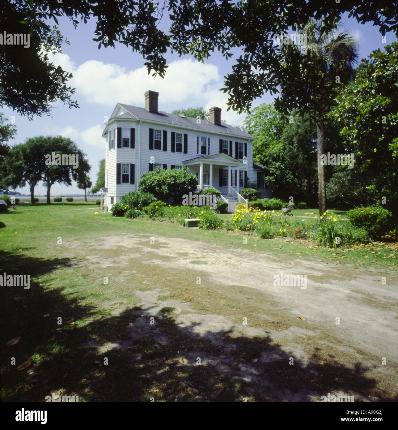 William Fripp house c.1830 à Beaufort en Caroline du Sud USA Photo Stock