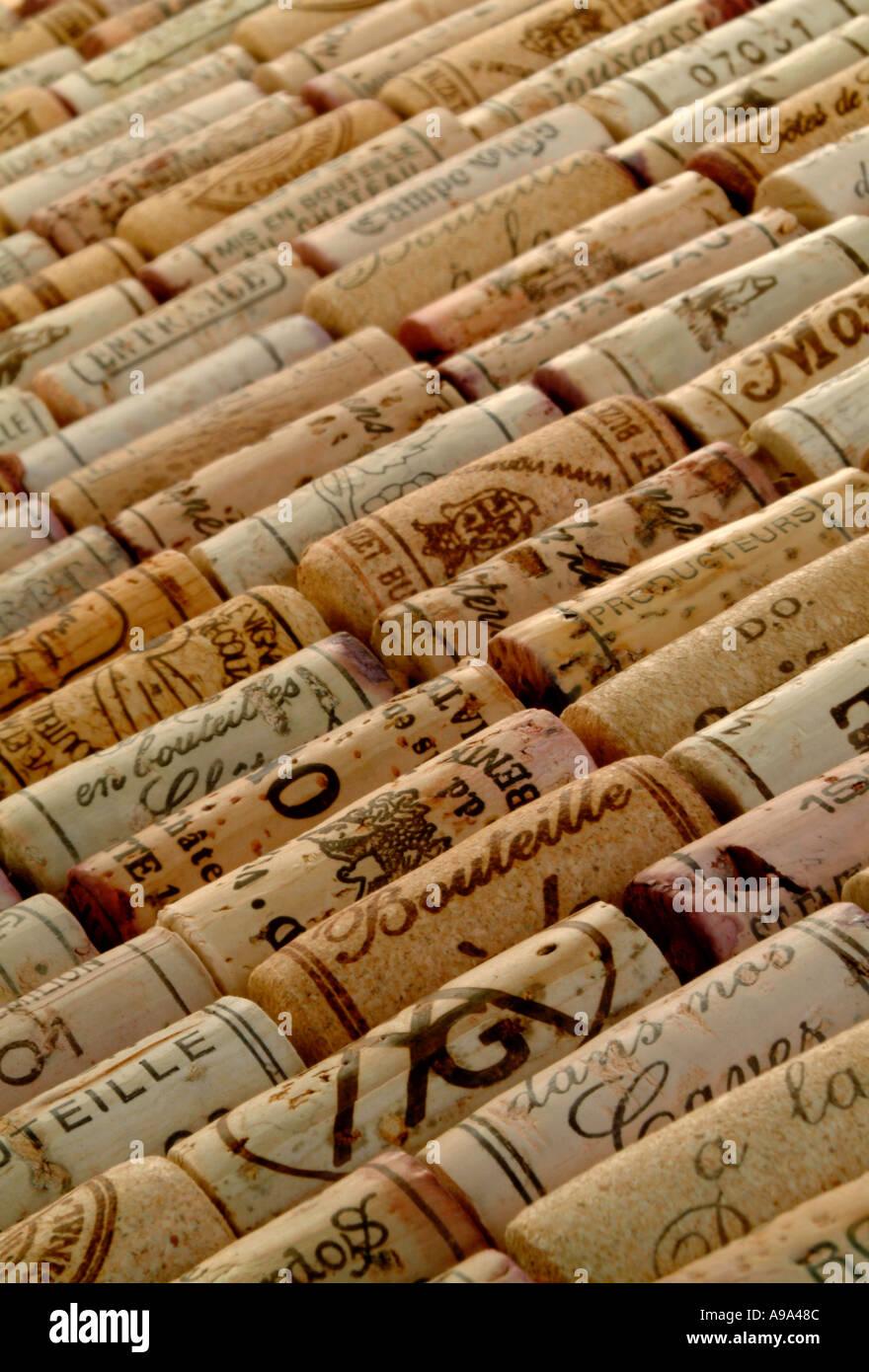 Bouchons de vin rouge Photo Stock