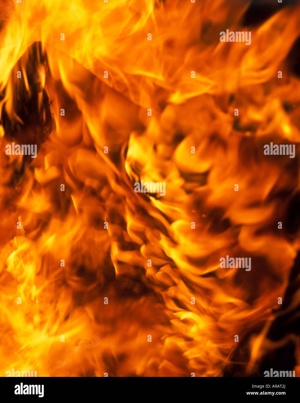 FLAMMES DE FEU Photo Stock