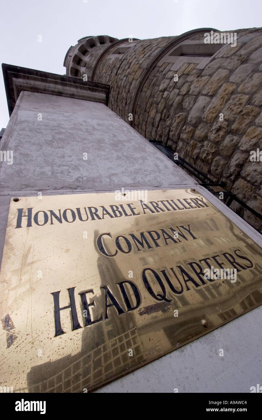Honorable Artillery Company siège Armoury House Londres Photo Stock
