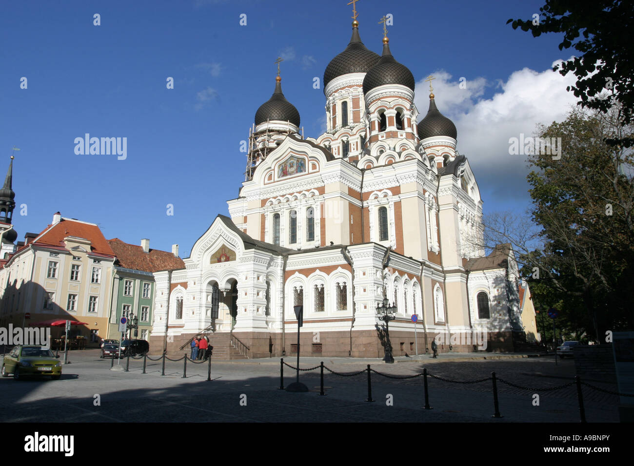 L'ESTONIE - la cathédrale Alexandre Nevski dans la capitale Tallin Photo Stock